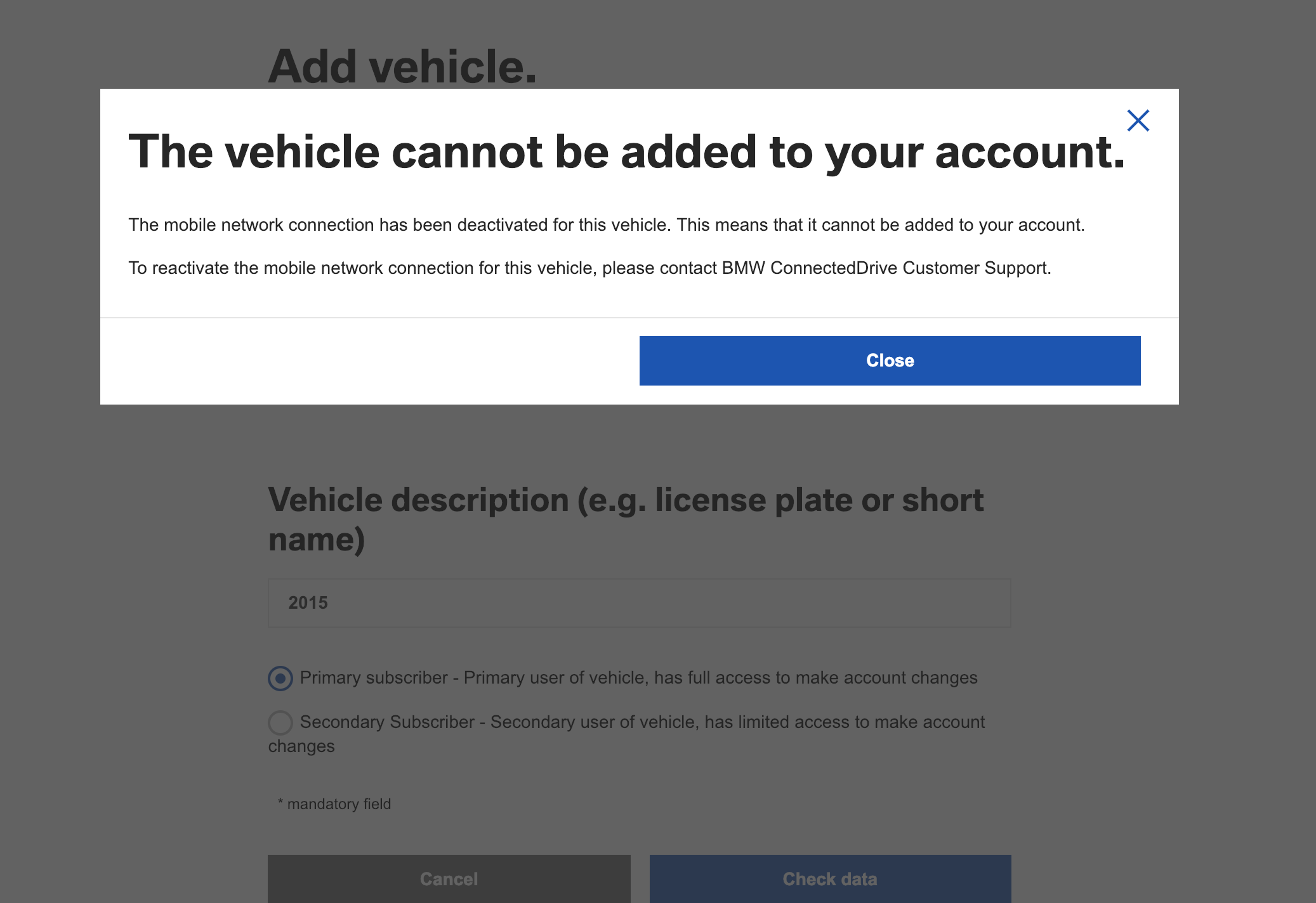 Serious Problem With New Bmw Connecteddrive Website Usa Page 2